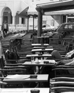 cafe in Mykonos Town, Greece