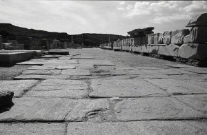 walkway in the agora ruins on Delos