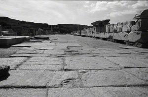 walkway in the agora ruins on Delos