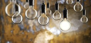 light bulbs against wall