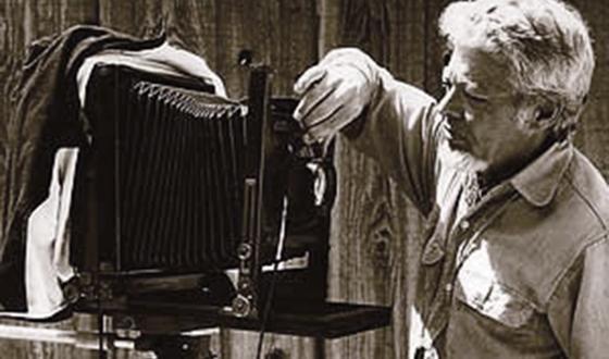 Robert Godwin Jr with his 8x10 view camera