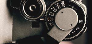 shutter release on vintage 35mm camera