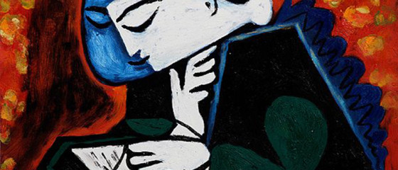 ML Hart recommends reading oil painting, Girl Reading by Pablo Picasso
