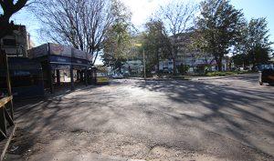 Empty winter streets in the Centro, Atlántida, Uruguay