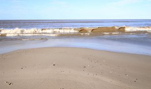 La playa hermosa de Atlántida