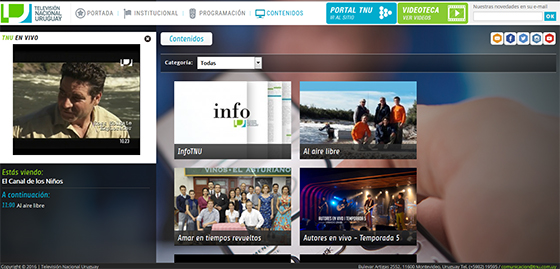screencap of Uruguayan news website