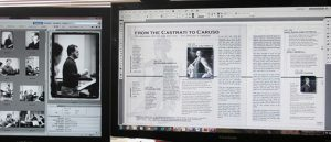 computer screens with working images for The Tenor Book
