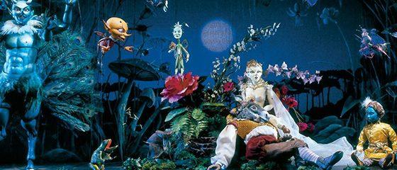 Puppet-actors fro Salzburg Marionette Theatre in A Midsummer Night's Dream
