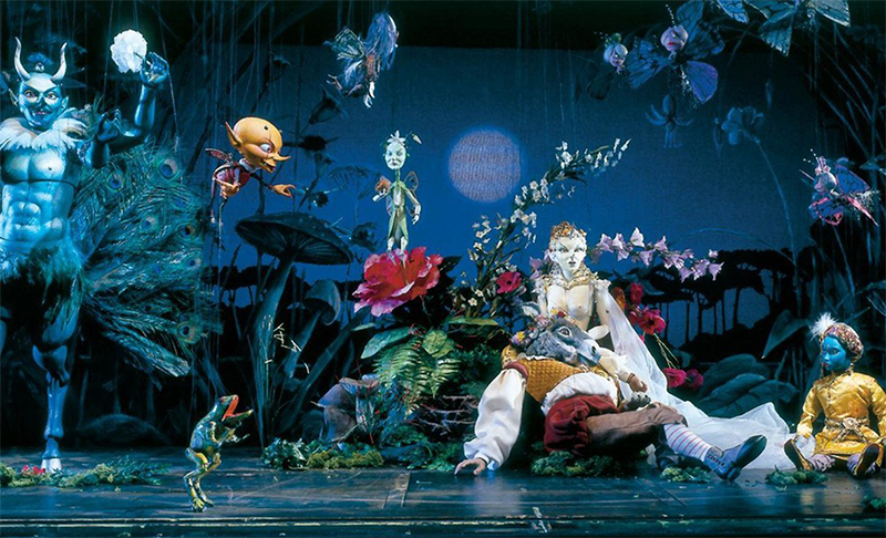 Puppet-actors from Salzburg Marionette Theatre in puppet actors in A Midsummer Night's Dream