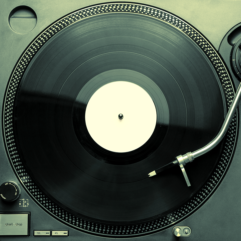ML Hart recommends music vinyl record on turntable